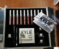 best eyeliners - 2017 kylie holiday edition makeup set kylie cosmetics lipsticks set eyeliner kyshadow eye cream big box hot sale best christmas gift