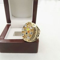 Wholesale Football Steeler super bowl Replica Men World Championship Ring with wooden box