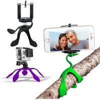 Wholesale Gekkopod Mini Tripod Mount Portable Flexible Stand Holder for iPhone Gopro huawei yi Sj4000 SJCAM c30 Sports Camera Accessories