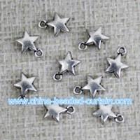 Wholesale cheap shamballa jewelry bracelet pendants MM star metal beads for jewelry making