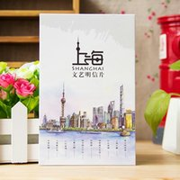 Wholesale Shanghai China Shanghai Oriental Pearl Bund Nanjing Road Landscape Original Hand painted Postcard Travel Memorial Gift Card sheets
