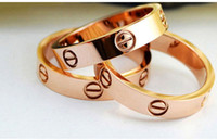 Wholesale 2017 k Gold Brand Ring Fashion Rose Gold Ring Setting Screw Love Couple Rings High Quality Jewelry