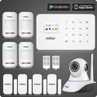 Wholesale LS111 Wireless wifi ip camera KERUI G18 gsm home alarm system magnetic motion detector burglar sucerity alarm kit Two year warranty