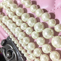 beaded nacklace - Famous Brand cc with logo Top Grade real Pearl Necklaces with brass K Gold Plated Chokers Nacklace For Women Girl vintage pearl jewelry