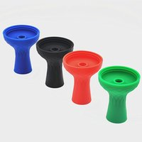 Wholesale X NEW ONE Hole Silicone Shisha Hookah Bowl Silicone Head Shisha Accessories Color Random