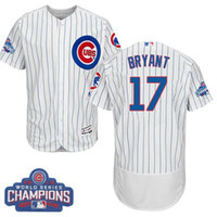 Wholesale Christmas Special Men s Chicago Cubs Kris Bryant White Grey World Series Champions New Arrive Baseball Jersey
