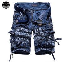 Wholesale Shorts Mens Bermuda Short Camouflage Printing Men Homme Multi Pocket Cargo Shorts Leisure Loose DWEF