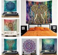 Wholesale 21 Style Polyester Beach Shawl Bath Towel cm Hanging Tapestry Indian Mandala Style Meditation Yoga Mat Ethnic Throw Art Floral Towel