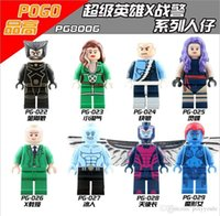 x hommes classiques chiffres achat en gros de-PG8006 8pcs / set Marvel X-men DIY Figure Wolverine Professeur X Mystique Ice man Rogue Classic Lepin Compatible Block jouets