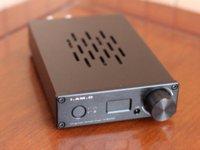 Wholesale AM D V200 Digital Audio Amplifier Headphone Amplifier W CM6631A Bit KHz Input USB Optical Coaxial AUX OLED Display