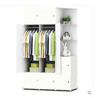 Wholesale Simple wardrobe simple modern children wardrobe wood cabinets furniture assembly lines lockers plastic wardrobe