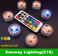 battery operated underwater lights - 2016 Newly underwater LED candle light IP68 waterproof RGB changeable color LEDs Tea Light Battery operated with remote controller