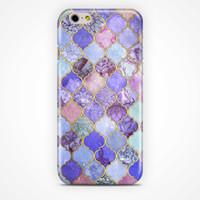 achat en gros de pourpre cas de l'iphone 4s-For iPhone 7 case Enveloppe complète Morroco Purple arc-en-ciel marbre téléphone cas Housse pour téléphone portable pour iPhone 6 / 6s / 5s / 4s / 5s / 6 plus / 6s plus