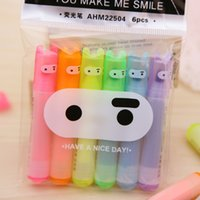 Wholesale Cute Kawaii Mini Highlighter Creative Lovely Cartoon Ninja Rabbit Gel Pen for Kids Korean Stationery School Supplies