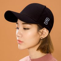 Wholesale South Korea Embroidery Retro trend Side letter Curved eaves peaked cap Baseball cap hat man woman fanshion cap GD