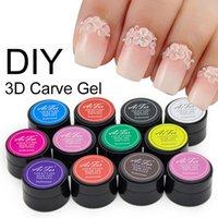 beauty tips models - Nail Beauty Supplies Colors D Modelling Gel Acrylic Colour Carving Gel DIY UV Sculpture Glue Nail Art Tips