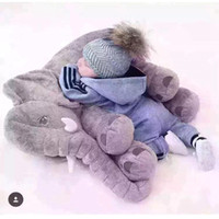 baby doll toy car seat - 28 cm Elephant Plush Soft baby Sleep Positioner Pillow Baby Dolls Baby Toys Sleep Bed Car Seat Cushion Pillows Kids Bedding MC0447