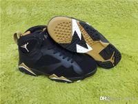 aa euro - Air AA Jordan Retro Golden Moments Package Jordans Sapatos Vintage Men Shoes Basketball Shoes VII euro With Original Box
