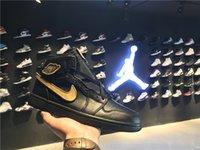 al por mayor jordan mujer-Air Retro 1s Jordania 1 Hombre Mujer Jordans Baloncesto Zapatos Alta BHM 908656-001 40-46
