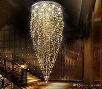 artistic crystals - K9 Crystal Stair LED Chandeliers Modern Artistic Creative Fashion Spiral Suspension Lighting Restaurant Villa Hanging Lamp MYY