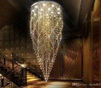 artistic steel - K9 Crystal Stair LED Chandeliers Modern Artistic Creative Fashion Spiral Suspension Lighting Restaurant Villa Hanging Lamp MYY