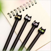 Wholesale Sweet cute Black Cat design gel pen stationery office school supplies papelaria WJ0123