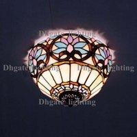 Incandescent 240V Surface mounted Tiffany Glass Ceiling Art bedroom European-style garden lights DIA 30 cm H 18 CM