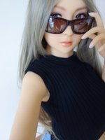 Wholesale 158cm japanese realistic silicone sex dolls with wig vagina anal oral sex built in metal skeleton real silicone sex dolls