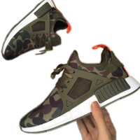Wholesale 2017 Adult And Children NMD XR1 Fall Olive green Sneakers Women Men Youth Running Shoes High Quality