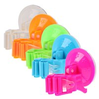 Wholesale 1pc Candy Color High Quality Suction Cup Bathroom Shower Holder Hanger Home Kitchen Storage Mop Broom Organizer Rack