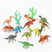 Wholesale 12pcs set Mini CM small dinosaur children simulation dinosaur model baby early education toy style model toy