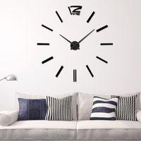 best metal wall decoration - Recommend Quartz Diy D Wall Clock Inch Large Clock Watch Best Acrylic Mirror Metal Wall Stickers Clocks Home Decoration