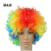 average gram - Wigs in an extra large explosion COS clowns wig wig adult fans party supplies grams of increased environmental protection material profe