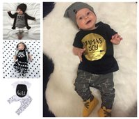 baby jumper outfit - Boys Girls Baby Childrens Clothing Sets Cotton tshirts Harem Pants Set Cute Cartoon Printed Jumpers Toddler Clothes Outfits Boutique Clothin