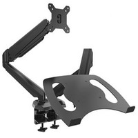 Wholesale HONGHUA quot quot Gas Spring Desktop Clamping Mount Full Motion Dual Screen Arm For Laptop Monitor With USB Port Audio Jack Headset Jack