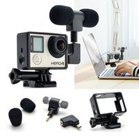 Wholesale Hero4 Gopro camera mini microphone stereo interface with frame transfer camera dedicated sound clarity