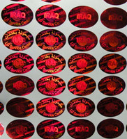 Wholesale Red hologram sticker effect laser sticker security unremovable antifake counterfeit logo lable