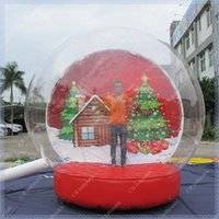 Wholesale Inflatable Snow Globe Giant Inflatable Globe for Christmas Decoration Christmas Photo Snow Globe Commercial Quality Free Shiping