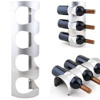 Precio de Bastidores de almacenamiento de vino-Nuevo 3/4 botellas de vino montado en la pared del estante del vino del metal de la botella de vino de los sostenedores de la botella Venta al por mayor 1PC