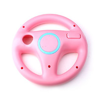 Wholesale 2016 Hot New Fashion Steering Wheel For Nintendo Wii Mario Kart Remote Controller Racing Games Pink