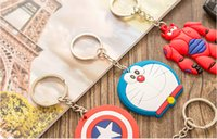 Wholesale Key creative cartoon silicone metal PVC key chain accessories very beautiful keys and many kingd of styles