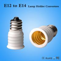 Cheap Retardant PBT,Brass E12 To E14 lamp holder adapter Best E12-E14 adapter RoHS E12 To E14 lamp holder Converter