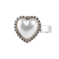 Wholesale Heart Shaped Napkin Rings Napkin Holder Wedding Banquet Dinner Decoration Silver