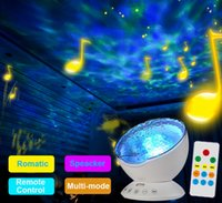 Wholesale Ocean Wave LED Projector Rotating Night Light Lamp Projector with Built in Mini Music Player Function with Remote Control TF Card