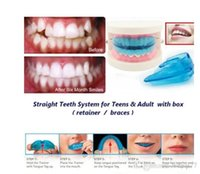 Wholesale A retainer Box Orthodontic Straight Teeth for Teens Adult Color Blue