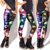 Wholesale Women leggings evening party sexy slim Western Fashion new Jellyfish pattern print female casual Polyester Leggings