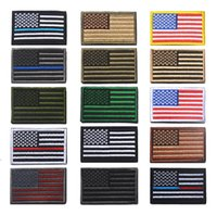american flag sticker - American Flag Patches Military Uniform Gold Border USA Can Ironing Applique Jeans Fabric Sticker Patches for Hat Decoration