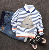 Wholesale baby clothes New boy children s children s clothing baby sweater coat dyed sailing