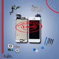 al por mayor iphone reemplazo táctil de cristal-El reemplazo de cristal blanco de la asamblea del LCD del digitizador de la pantalla táctil para el iPhone 5 5G con los accesorios libera el envío