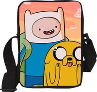 achat en gros de aventure bourse de temps-Grossiste-2016 Nouveau Petit Cartoon aventure temps enfants sacs Messenger étudiant mini sacs sacs cool école pour les adolescents